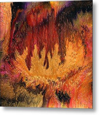 Glowing Caves Metal Print by Paul Tokarski