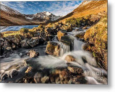 Glyder Fawr Mountains Metal Print by Adrian Evans