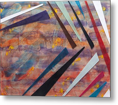 Go With The Flow Metal Print by Nell Werner