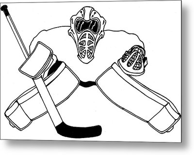 Goalie Equipment Metal Print by Hockey Goalie