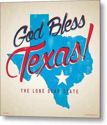God Bless Texas Metal Print by Jim Zahniser
