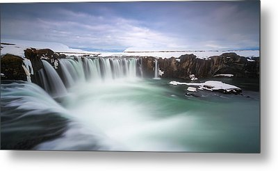 Godafoss Metal Print by Tor-Ivar Naess