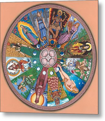 Goddess Wheel Guadalupe Metal Print by James Roderick
