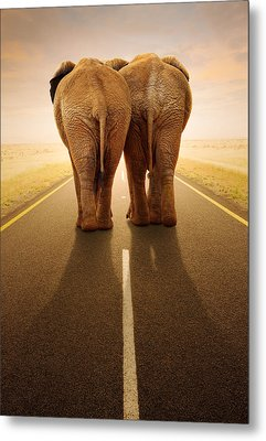 Going Away Together / Travelling By Road Metal Print by Johan Swanepoel