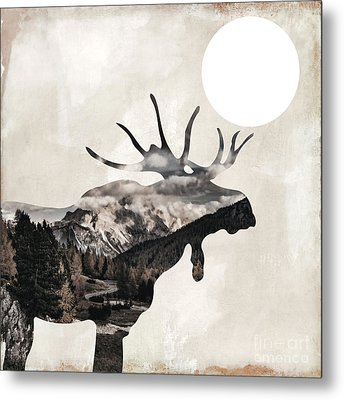 Going Wild Moose Metal Print by Mindy Sommers