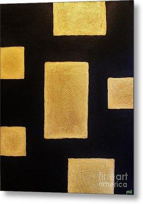 Gold Bars Metal Print by Marsha Heiken