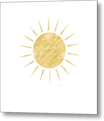 Gold Sun- Art By Linda Woods Metal Print by Linda Woods