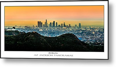 Golden California Sunrise Poster Print Metal Print by Az Jackson
