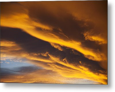 Golden Clouds Metal Print by Garry Gay
