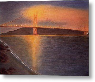 Golden Gate Bridge San Francisco Metal Print by Ken Figurski