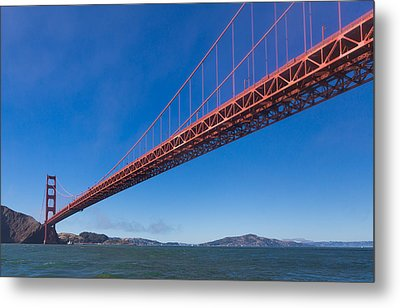 Golden Gate From The Bay Metal Print by Scott Campbell