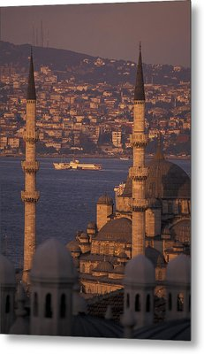 Golden Horn At Sunset From Suleymaniye Metal Print by Richard Nowitz