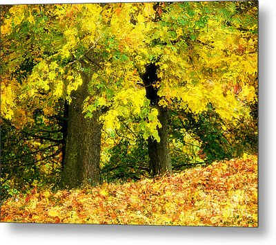 Golden October Metal Print by Angela Doelling AD DESIGN Photo and PhotoArt