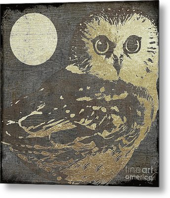 Golden Owl Metal Print by Mindy Sommers