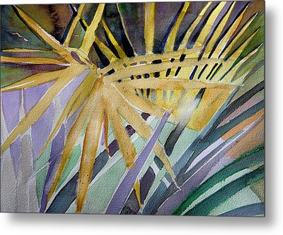Golden Palms Metal Print by Mindy Newman
