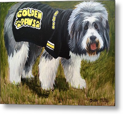 Golden Paws Metal Print by Dustin Miller