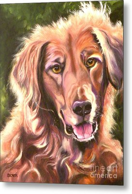 Golden Retriever More Than You Know Metal Print by Susan A Becker