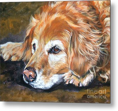 Golden Retriever Senior Metal Print by Lee Ann Shepard