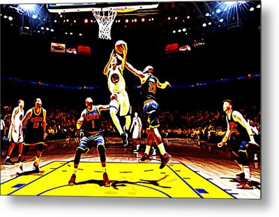 Golden State Warriors Shaun Livingston Metal Print by Brian Reaves