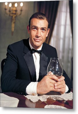 Goldfinger, Sean Connery, 1964 Metal Print by Everett
