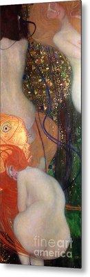 Goldfish Metal Print by Gustav Klimt