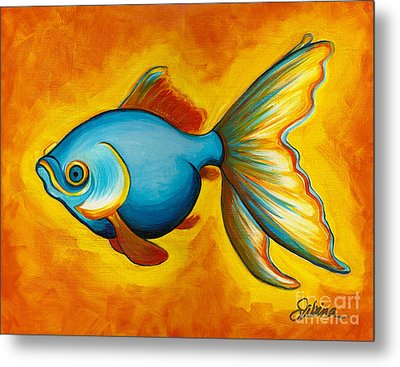 Goldfish Metal Print by Sabina Espinet