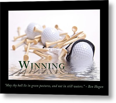 Golf Motivational Poster Metal Print by Tom Mc Nemar