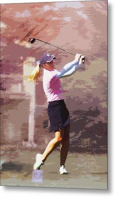 Golfer Metal Print by David Haskett