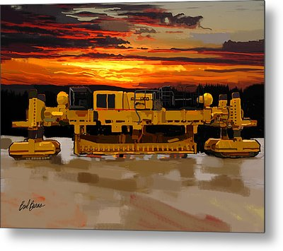 Gomaco Slip Form Paver Metal Print by Brad Burns