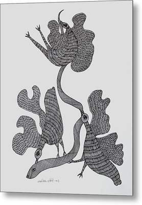 Gond 2006 Metal Print by Ram Singh Urveti