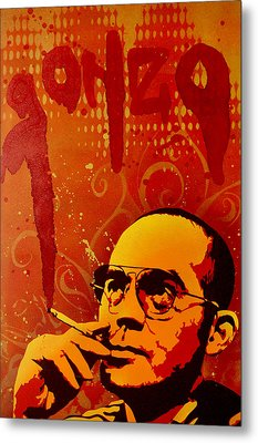 Gonzo - Hunter S. Thompson Metal Print by Tai Taeoalii