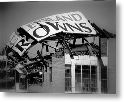 Goodbye Cleveland Stadium Metal Print by Kenneth Krolikowski