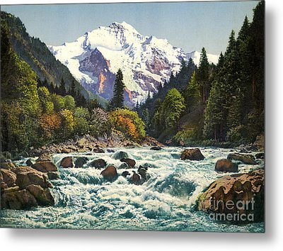 Gorge Of The Lutschine River Interlaken Metal Print by Celestial Images