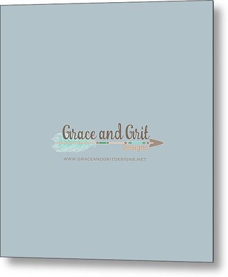 Grace And Grit Logo Metal Print by Elizabeth Taylor