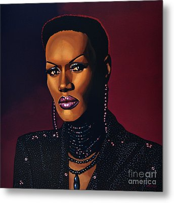 Grace Jones Metal Print by Paul Meijering