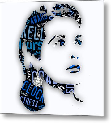 Grace Kelly Movies In Words Metal Print by Marvin Blaine