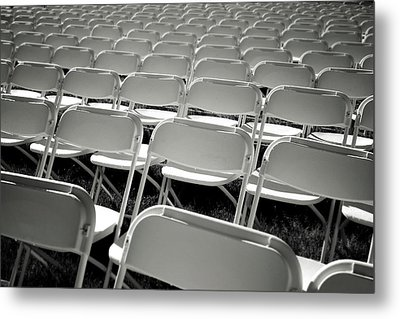 Graduation Day- Black And White Photography By Linda Woods Metal Print by Linda Woods