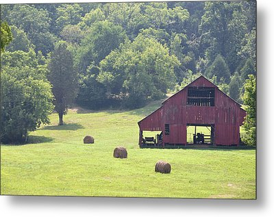 Grampa's Summer Barn Metal Print by Jan Amiss Photography