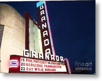 Granada Theater Metal Print by Debbi Granruth