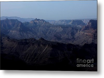 Grand Canyon At Dusk Metal Print by Erica Hanel
