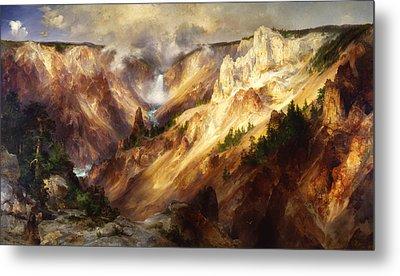 Grand Canyon Of The Yellowstone Metal Print by Thomas Moran