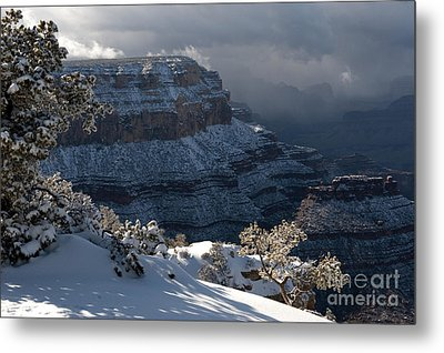 Grand Canyon Storm Metal Print by Sandra Bronstein