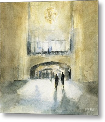 Grand Central Terminal Light Metal Print by Beverly Brown