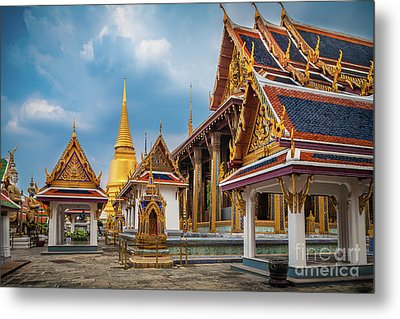 Grand Palace Square Metal Print by Inge Johnsson