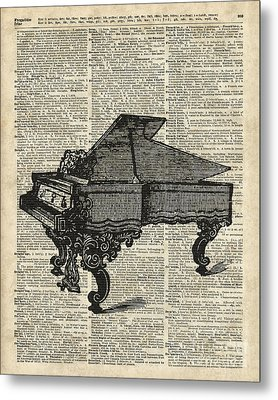 Grand Piano Metal Print by Jacob Kuch