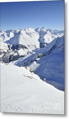 Grande Sassiere And Petite Sassiere Metal Print by Andy Smy