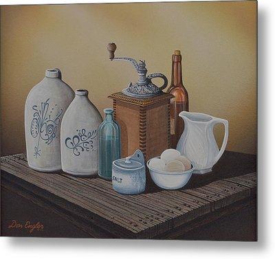 Grandma's Jars Metal Print by Don Engler