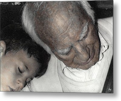 Grampas Shoulder Metal Print by Wayne King