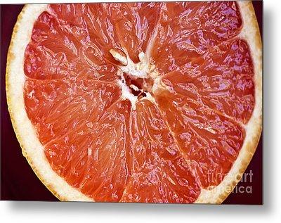 Grapefruit Half Metal Print by Ray Laskowitz - Printscapes