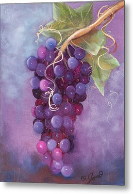 Grapes Metal Print by Joni McPherson